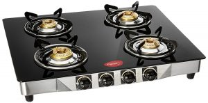 Pigeon Ultra Glass SS Manual Gas Stove