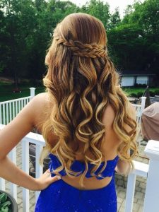 Beautifully styled hair