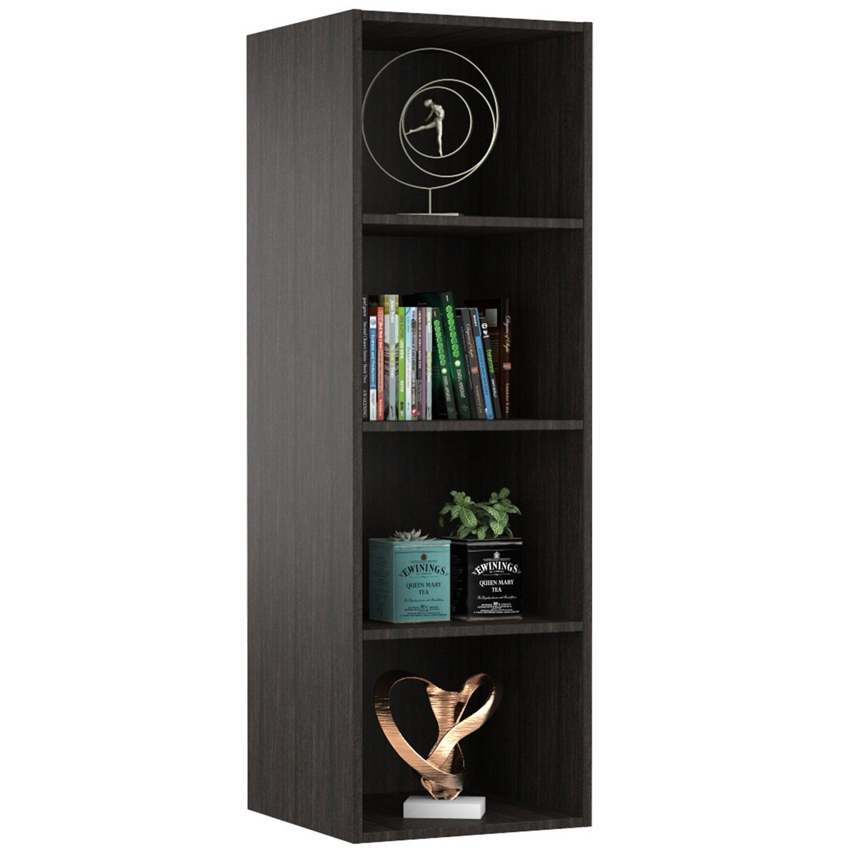 Forzza Bristol 4-Shelf Bookcase