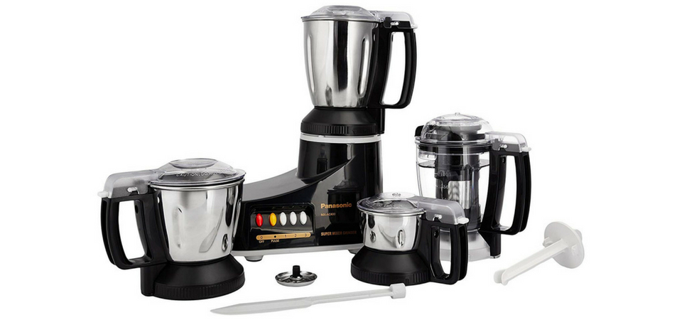 Panasonic MX-AC400 550-Watt 4-Jar Super Mixer Grinder