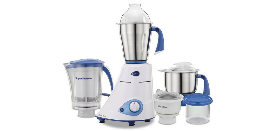 Preethi Blue Leaf Platinum 750 Watt Mixer Grinder Review In India