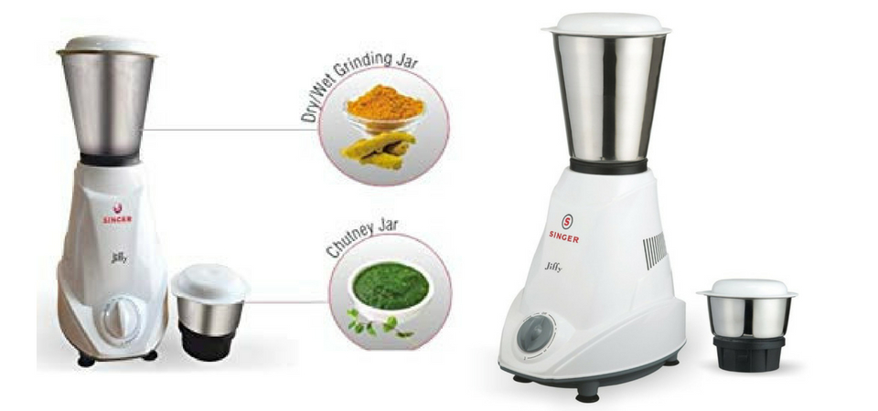 Singer Jiffy 500-Watt Mixer Grinder : Review, Feature & Price In India