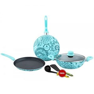7. Wonderchef Oscar Blu Doppio 4-Piece Aluminum Cookware Set