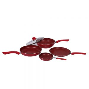 Wonderchef Royal Velvet Induction Base Aluminum Cookware Set (4 Pieces)