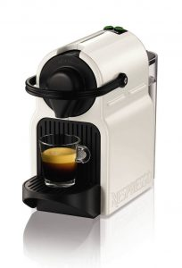 #4.Nespresso Krups Inissia White Coffee Machine